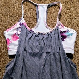 Lululemon No Limits Razorback, Size 4, Gray & Pink